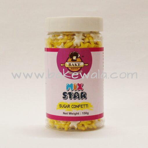 Bake Haven - Metallic Star - Yellow And White - 150g
