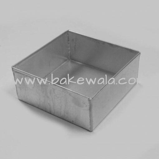 Aluminium Cake Tin Mold - Heavy Duty - Square Shape - Size 2 - 6 Inch