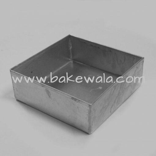 Aluminium Cake Tin Mold - Heavy Duty - Square Shape - Size 3 - 7 Inch