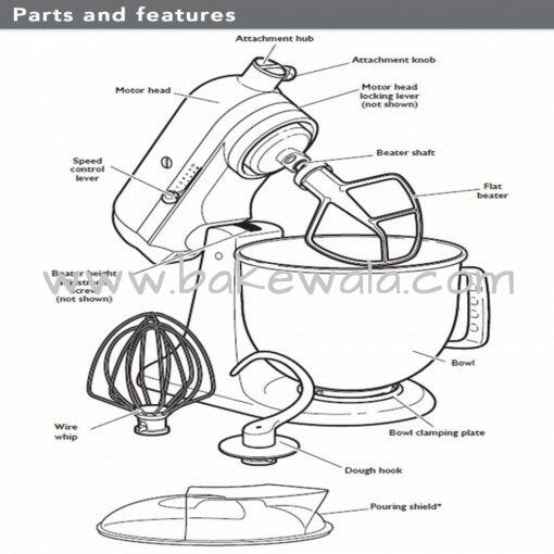 KitchenAid - Artisan Series 4.8L Tilt-Head Stand Mixer - Candy Apple Red