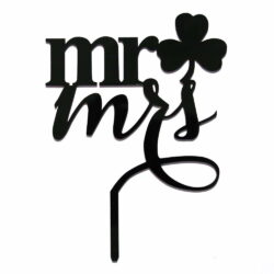 Acrylic Cake Topper or Silhouette - Mr & Mrs