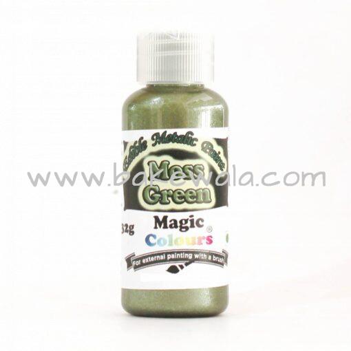 Magic Colours - Metallic Paint - Moss Green - 32g