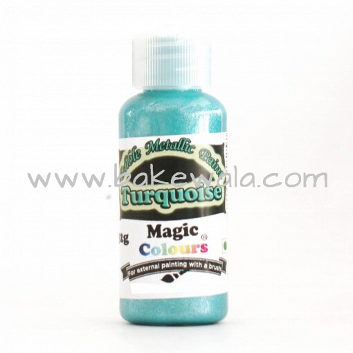 Magic Colours - Metallic Paint - Turquoise - 32g