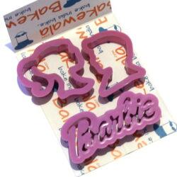 Barbie logo Cutters - 3 pcs