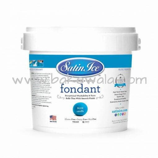 Satin Ice Blue Vanilla Fondant 2.5 kg