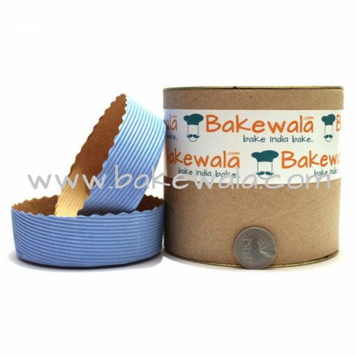 Novacart Cake Baking Paper Moulds - Pastel Blue - 12 Pieces