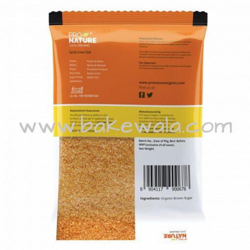 ProNature - Brown Sugar - 500g - 100% Organic