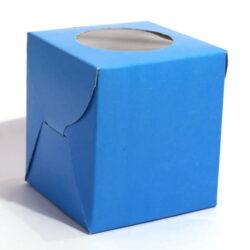 Cupcake Boxes  1 Cavity - Blue  - 45 PCS
