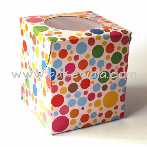 Cupcake Boxes  1 Cavity - Colours 45 PCS