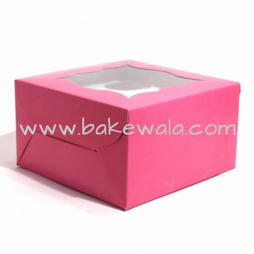 Cupcake Boxes  4 Cavities - Pink  - 25 PCS