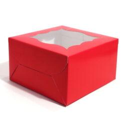 Cupcake Boxes  4 Cavities - Red  - 20 PCS