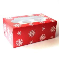 Cupcake Boxes  6 Cavities - Christmas - 20 pc