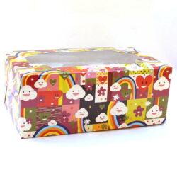 Cupcake Boxes  6 Cavities - Happy - 20 PCS