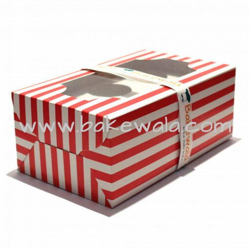 Cupcake Boxes  6 Cavities - Red n White Classics -  20 pcs