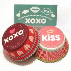 Cupcake Liner Set - Candy Kisses - 48 pcs