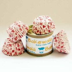 Cupcake Paper Liners - Christmas Red - 11cm - 100 pcs