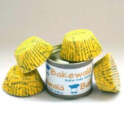 Cupcake Paper Liners - Yellow - 12cm - 100 pcs