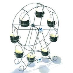 Cupcake Stand - Ferris Wheel - Chrome Finish