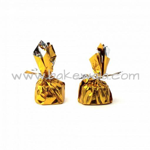 Chocolate Wrapper - Plain - Gold Lacquer - 300 pcs