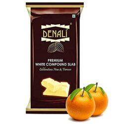 Denali - Premium White Compound Slab - Orange - 500g