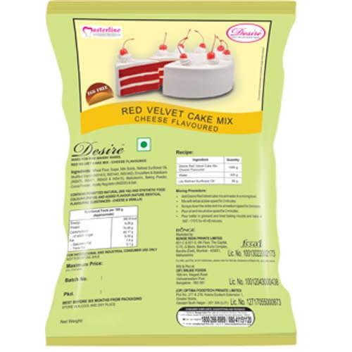 Desire - Egg Free - Red velvet Cake Flour Mix - 5kg