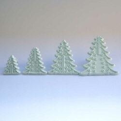 Embosser - Christmas Tree Shapes - Set of 4