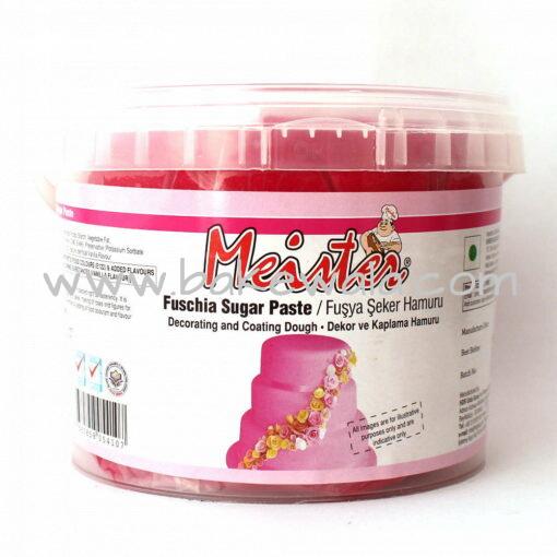 Meister Sugar Paste or Fondant - Fuchsia - 1kg