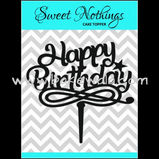 Acrylic Cake Topper or Silhouette - Happy Birthday - Design 5