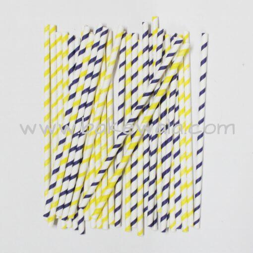 Party Straws - Paper Straws - Stripes - Set of 100
