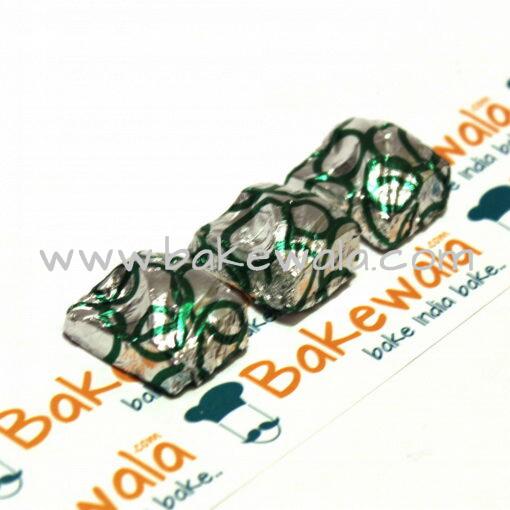 Chocolate Foil Wrapper - Hoop Pattern - Green - 300 pcs