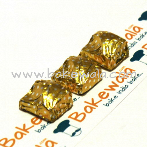 Chocolate Foil Wrapper - Dotted - Yellow - 300 pcs