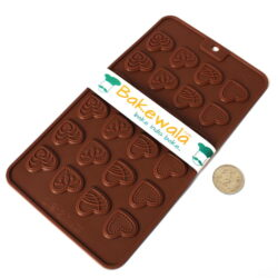 Silicon Chocolate Garnish Mould - Heart Patterns