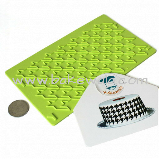 Silicon Onlay Mat - Houndstooth Pattern