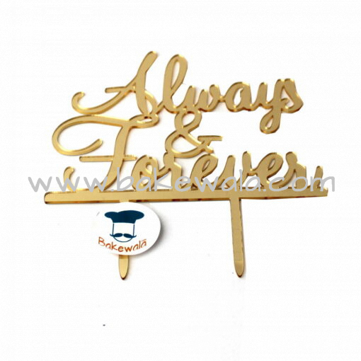 Acrylic Cake Topper or Silhouette - Always & Forever