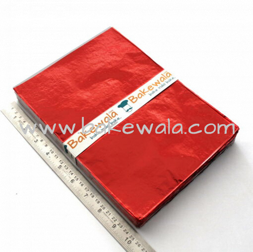 Chocolate Foil Wrapper - Large Size - Plain - Red - 300 pcs