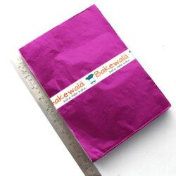 Chocolate Foil Wrapper - Large Size - Plain - Dark Pink - 300 pcs
