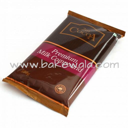 2m Cocoa Premium Milk Compound Slab  - 500 g