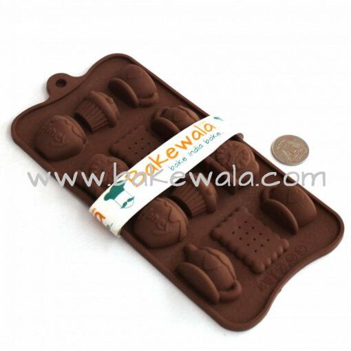 Silicon Chocolate Mould - Tea Time