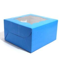 Cupcake Boxes  4 Cavities - Blue  - 25 PCS