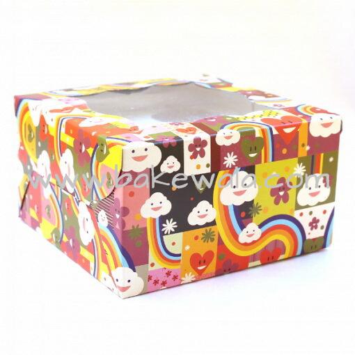 Cupcake Boxes  4 Cavities - Happy  - 25 PCS