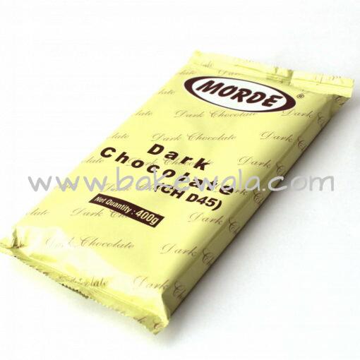 Morde Real Dark Chocolate Slab 45 Percent - 400 grams