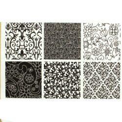 Texture Sheet - Floral - Set of 6