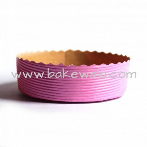 Paper Baking Mould - Pastel Pink - Round Cake Mold - 4 Inch dia -300pcs