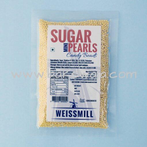 Weissmill - Sugar Pearls Beads - Mini - Yellow - 75g