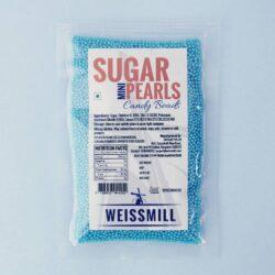 Weissmill - Sugar Pearls Beads - Mini - Blue - 500g