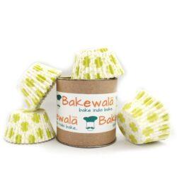 Cupcake Paper Liners - Green Lucky Clover - 12cm - 100 pcs
