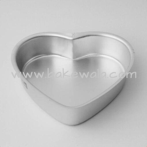 Aluminium Cake Tin Mold - Heart Shape - Size 2 - 7.5 inches wide