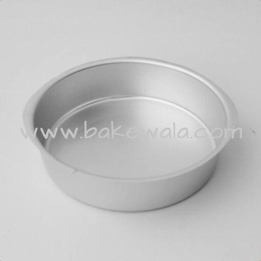 Aluminium Cake Tin Mold - Round Shape - Size 2 - 6.75 inches