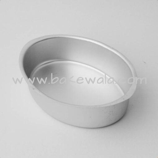 Aluminium Cake Tin Mold - Oval Shape - Size 2 - 7.75 inches