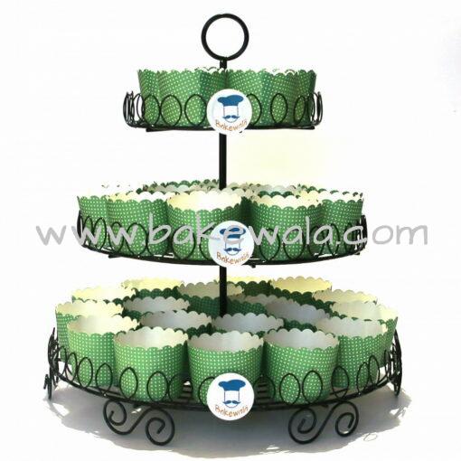 Metal Cupcake Stand - 3 Tier Black